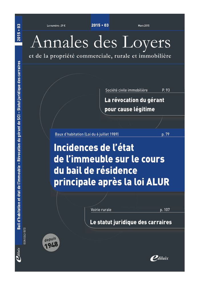 Annales des Loyers Mars 2015