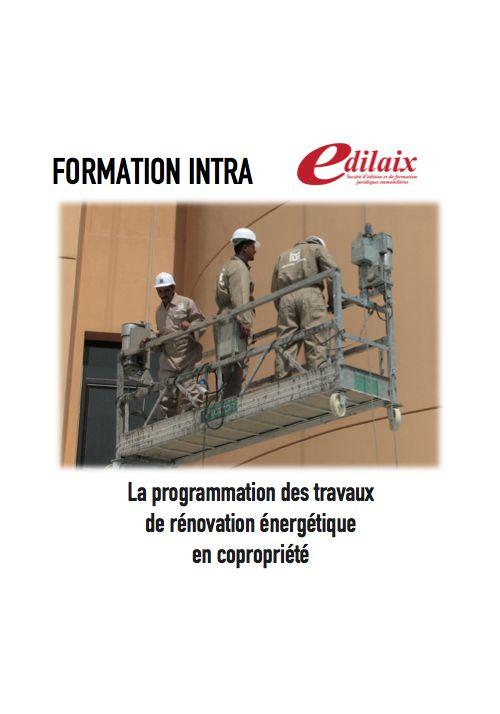 La programmation des travaux de rénovation énergétique en copropriété