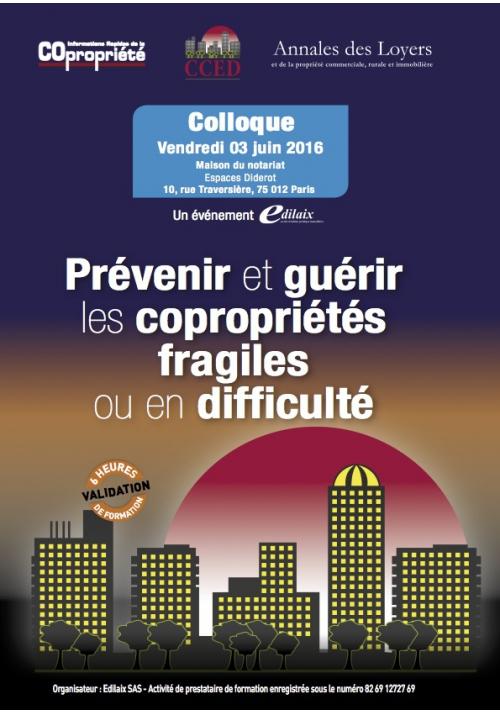 """Actes du colloque : """"Copropriétés en difficulté"""""""