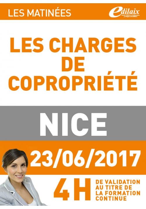 Vendredi 23 juin 2017 - Les charges de copropriété