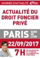 Vendredi 22 septembre 2017 - DROIT FONCIER PRIVÉ