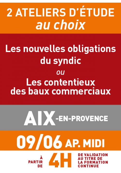 ATELIERS D'ETUDE - Aix en Provence - Vendredi 9 juin 2017 a.midi