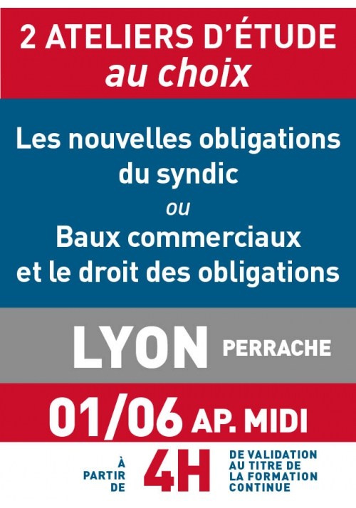 ATELIERS D'ETUDE - Lyon - Jeudi 1 juin 2017 a.midi
