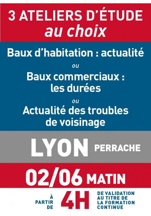 ATELIERS D'ETUDE - Lyon - Vendredi 2 juin 2017 matin