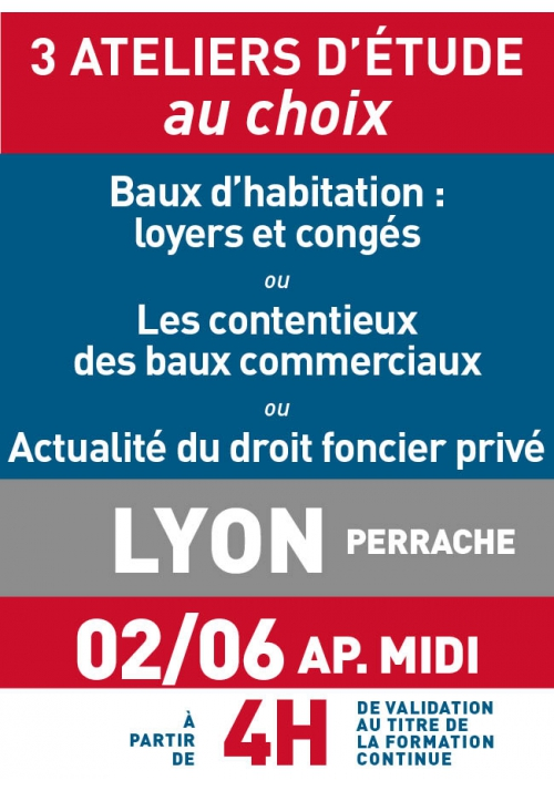 ATELIERS D'ETUDE - Lyon - Vendredi 2 juin 2017 a.midi