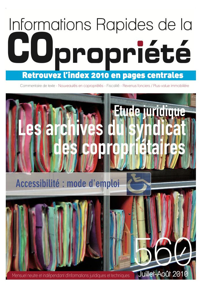 IRC 560 - Juillet Aout 2010