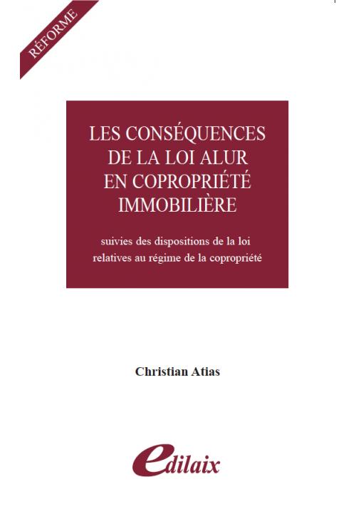 Consequences de la loi ALUR sur le regime de copropriete- PDF