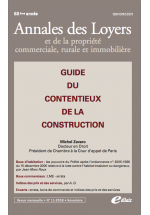 Guide du contentieux de la construction