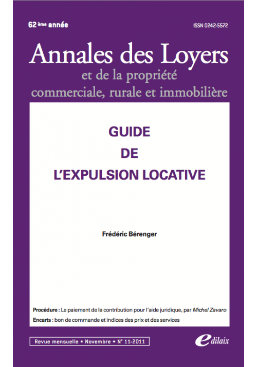 Guide de l'expulsion locative