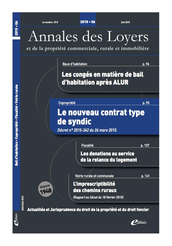 Annales des Loyers Juin 2015