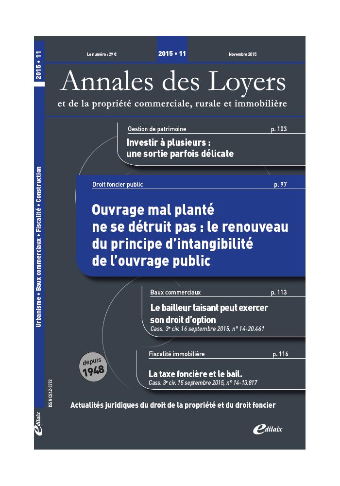 Annales des Loyers Novembre 2015