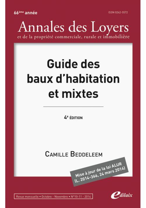Guide des baux d'habitation mixtes 4ème édition
