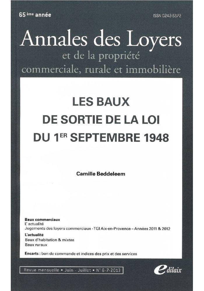 Les baux de sortie de la loi du 1er septembre 1948