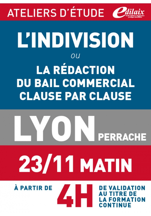 ATELIERS D'ETUDE - Lyon - Vendredi 23 novembre 2018 - matin