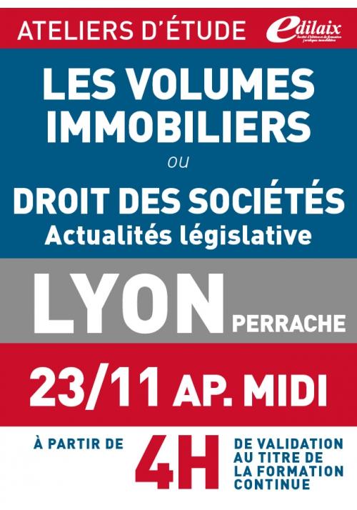 ATELIERS D'ETUDE - Lyon - Vendredi 23 novembre 2018 - après-midi