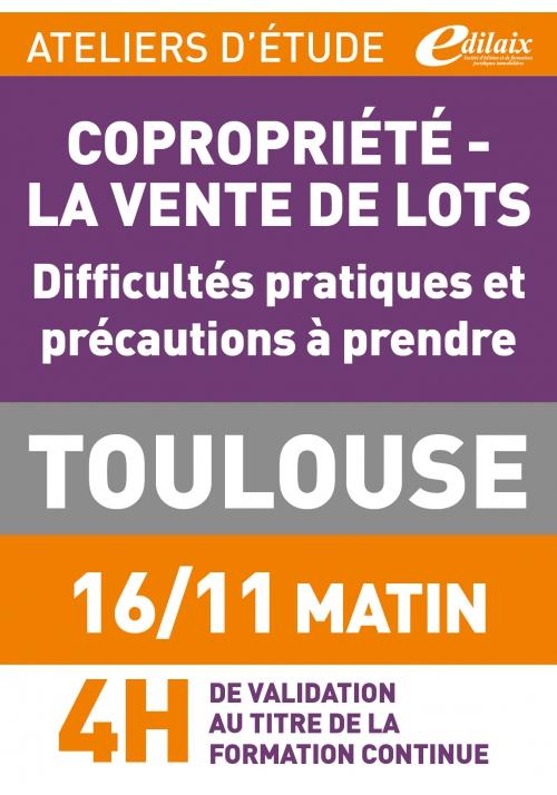 ATELIERS D'ETUDE - Toulouse - 16 novembre 2018 - Matin