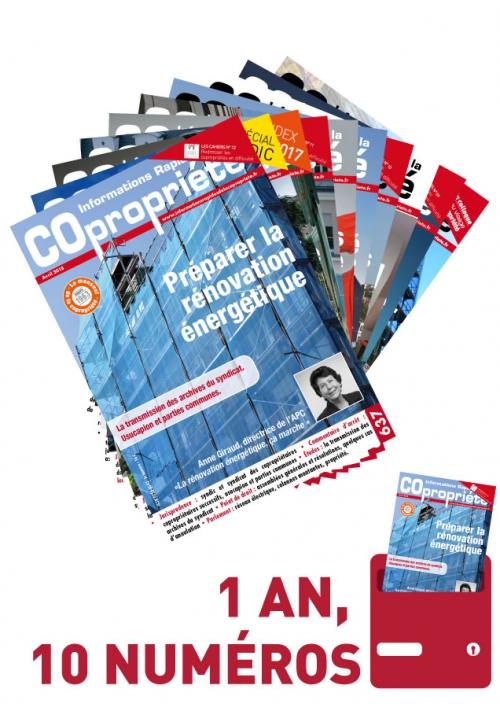 Informations Rapides de la Copropriété 1 an