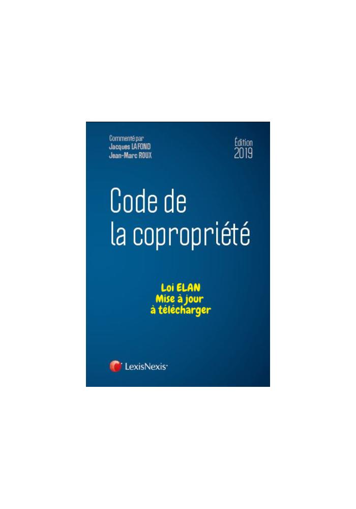 Code de la copropriété 2019 - 23ème édition