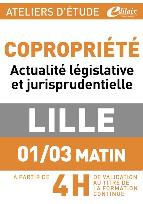 ATELIERS D'ETUDE - Lille - Vendredi 01 mars 2018 - matin