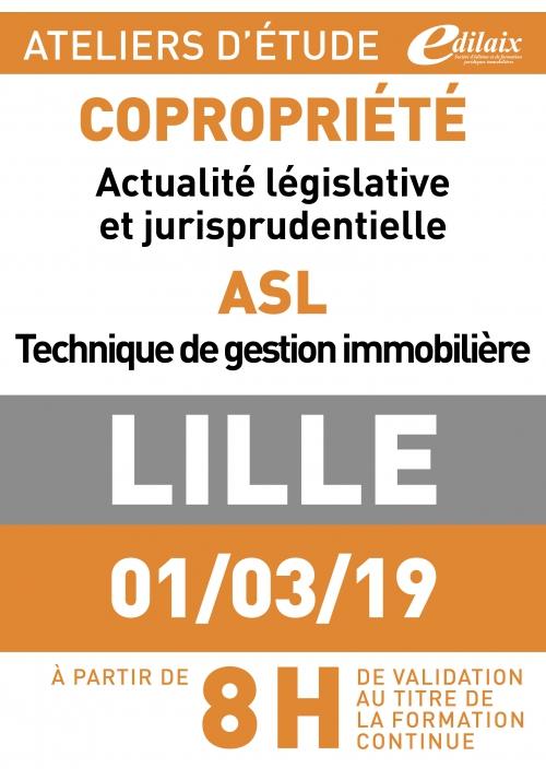 ATELIERS D'ETUDE - Lille - Vendredi 01 mars 2019 - matin