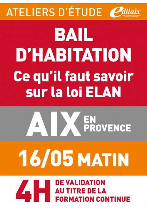 ATELIERS D'ETUDE - Aix-en-Provence - jeudi 16 mai 2019 - matin