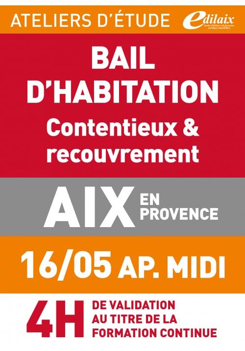 ATELIERS D'ETUDE - Aix-en-Provence - jeudi 16 mai 2019 - après midi