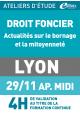 Bornage et mitoyenneté - Vendredi 29 novembre 2019 - ATELIERS D'ETUDE - Lyon -