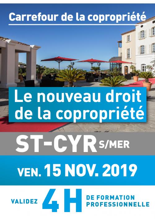 Le nouveau droit de la copropriété - Vendredi 15 novembre 2019