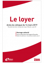 Le Loyer - Actes du colloque du 14 mars 2019