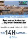 Rencontres Nationales de l'Expertise Immobilière 2020 - 2 Jours/ 14h. de formation